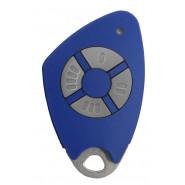 Intratone - Télécommandes bi-technologie électroniques insert inox gravé - 4 canaux - Bleu