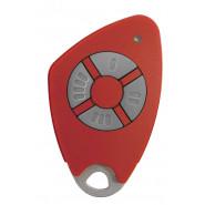 Intratone - Télécommandes bi-technologie électroniques insert inox gravé - 4 canaux - Rouge