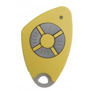 Intratone - Télécommandes bi-technologie électroniques insert inox gravé - 4 canaux - Jaune