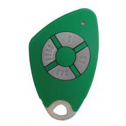 Intratone - Télécommandes bi-technologie électroniques insert inox gravé - 4 canaux - Vert