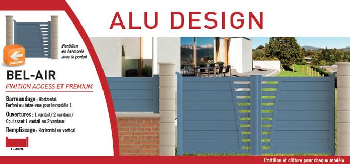 Portail Alu design
